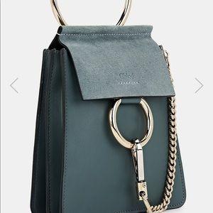 Chloe Faye mini leather & suede bag
